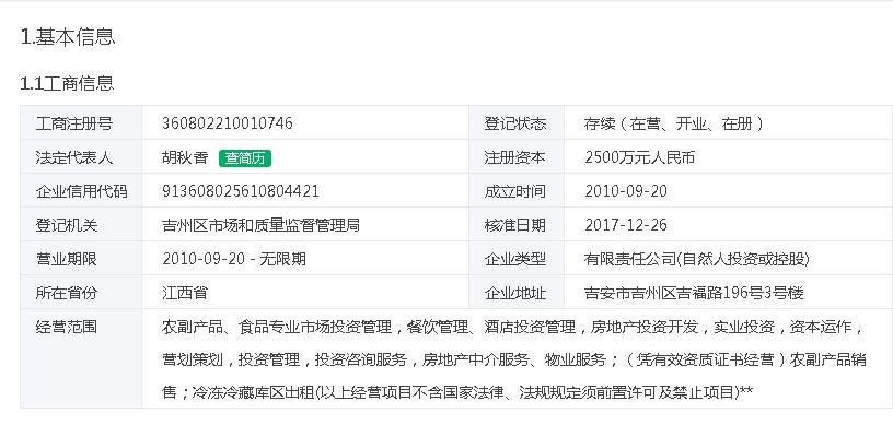 江西浙商联盟农副产品商贸城有限公司